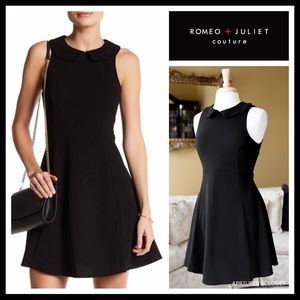 ROMEO JULIET BLACK A-LINE FIT-AND-FLARE DRESS A2C